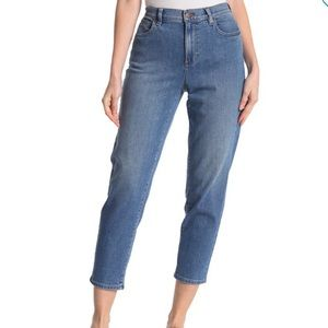 Eileen Fisher High Rise Tapered Ankle Mom Jeans